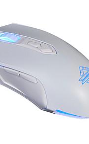 Ajazz aj52 jogo com fio luzes de respiração do mouse programável 2400dpi a5050ic