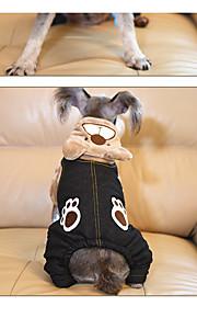 Dog Hoodie Dog Clothes Casual/Daily Animal Khaki Brown Gray
