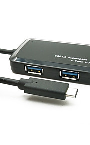 YUANKAIDA JY-SH009A HUB USB 3.1 Type-C 4 Ports 5Gbps With 0.15m Cable