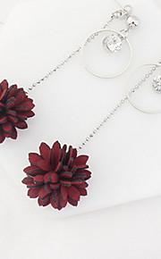 Drop Earrings Women's Euramerican Elegant Rhinestone Flower  Party Daily  Gift Movie Jewelry