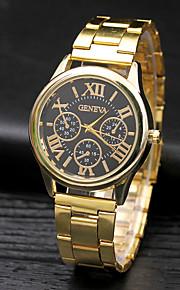 Damskie Męskie Modny Zegarek na nadgarstek Kwarcowy Stop Pasmo Na co dzień Srebro Złoty