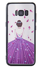 케이스 삼성 갤럭시 s8 s8 플러스 케이스 커버 새로운 바니시 구호 배경 여신 pc 백 보드 tpu 국경 전화 케이스