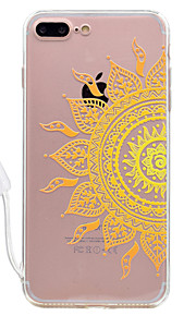 For Apple iPhone 7 7 Plus Case Cover Half flower Pattern High Permeability Acrylic Backplane TPU Frame Painted Relief Phone Case For iPhone 6S 6 Plus