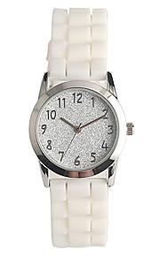 Mulheres Relógio de Moda Japanês Quartzo / Silicone Banda Casual Branco
