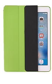 애플 ipad 공기 air2 스탠드 플립 종이 접기 자동 잠 / 전신 케이스 솔리드 컬러 하드 pu 가죽