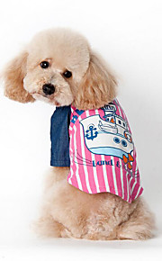 Hund Weste Hundekleidung Lässig/Alltäglich Seefahrer Blau Rosa