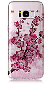 Obudowa dla samsung galaxy s8 plus s8 torba na telefon tpu material imd proces plum kwiat wzór hd flash proszek telefon skrzynka s7