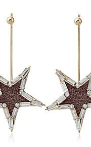 Women's Drop Earrings Rhinestone Unique Design Alloy Star Jewelry For Dailywear Stage