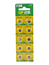LR41 192A 1.5V High Capacity Alkaline Button Cell Batteries (10-pack)