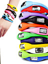 Unisex Sport Watch Digital LCD Silicone Band Candy color Black White Blue Red Orange Green Pink Purple Yellow
