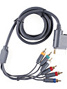 prima de video por componentes y cable AV Audio para Xbox 360 (1.84cm-cable)