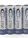 1.2V 2700mAh Rechargeable AA Ni-MH Battery