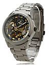 Men\'s Auto-Mechanical Black Dial Steel Band Wrist Watch