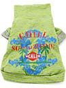 coton Hawaiian Style T-shirt (XS-XXL, vert)
