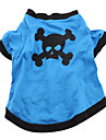 Skull Style Cotton T-shirt for Dogs (Blue, Multiple Sizes Available)