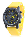 Unisex\'s Silicone Analog Quartz Wrist Watch (Yellow)