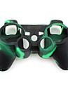 PS3コントローラー用カモフラージュパターン シリコン製プロテクターケース(グリーン/ブラック)