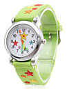 Silicone Analog Quartz Wrist Watch with Cartoon Star (Green) Cool Watches Unique Watches