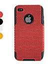 Mesh Pattern Protective Hard Case for iPhone 4 and 4S (Assorted Colors)