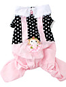 Dog Coat Black Spring/Fall Polka Dots