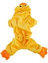 canard en forme de costume à capuche douce pour les chiens (XS-XL, jaune)