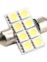 High-performance 31mm 8*5050 SMD White LED Car Signal Light