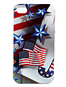 US Flag and Star Pattern Hard Case for iPhone 4 and 4S (Multi-Color)