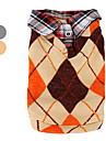 gilet de laine tricotée avec chemise col pour les chiens (XS-XL, coloris assortis)