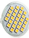 4W E14 / GU10 / GU5.3 (MR16) / Е26 / Е27 Светодиодный прожектор MR16 27 СМД 5050 300 лм теплый / натуральный белый DC12V / 220v