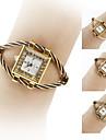 caja del reloj de la mujer de oro de estilo analogico de acero reloj pulsera de cuarzo (colores surtidos)