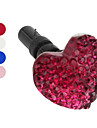 Heart Style Anti-Dust Earphone Jack for iPhone 4 and 4S (Assorted Colors)