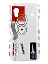 Plane Pattern Hard Case for Samsung Galaxy Ace S5830 (White)