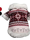 Dog Coat / Clothes/Clothing Red / Black Winter Snowflake