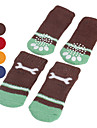 Socks & Boots for Dogs Red Shoes / Blue / Brown / Orange Spring/Fall S / M / L Cotton