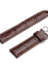 Unisex Genuine Leather Watch Strap 22MM(Brown) Cool Watch Unique Watch