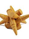 Educational Wood Bullet Interlock Toy - Golden