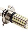 H4 4.2W 126x3528 SMD 6500-7000K White Light LED Blub for Car Lamps (DC 12V)