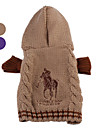 Dog Sweater / Clothes/Clothing Brown / Purple Winter Classic