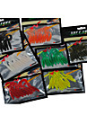 10 pcs Soft Bait Assorted Colors g/Ounce mm inch,PVC Sea Fishing Freshwater Fishing Bass Fishing Lure Fishing