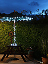 Солнечная 60-светодиодный Белый свет наружного освещения Fairy Лампы рождественские украшения