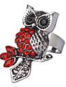 Vintage Owl Shape Rhinestone Studded Ring