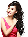 24inch Long curly Claw Clip Ponytail Fake Hair Extensions Horse Tress Curly Synthetic Hairpieces