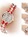 Women\'s Butterfly Alloy Analog Quartz Bracelet Watch (Gold)