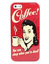 femme et un étui rigide de café pour iphone 5/5s