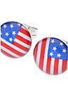 Серьги-гвоздики США Нержавеющая сталь Стразы Сплав Флаг Бижутерия Для Повседневные