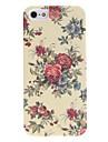 Elegant Design Flower Pattern Relief Hard Case for iPhone 5/5S