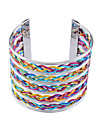 Silver Plated Colorful Wire Shaped Alloy Bracelet