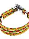 Z&X® trois couleurs armure croix bracelet galon en cuir
