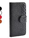 serpent etui en cuir PU de modele avec lecteur de carte pour l\'iphone 5/5s (couleurs assorties)