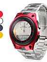남여의 멀티 기능성 스타일 합금 자동 아날로그 디지털 손목 시계 (실버)